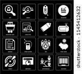set of 16 icons such as barcode ...
