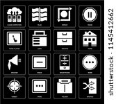 set of 16 icons such as shuffle ...