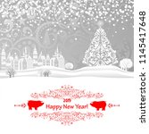 2019 happy new year greeting... | Shutterstock .eps vector #1145417648