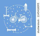 modern means of transportation... | Shutterstock .eps vector #1145418395