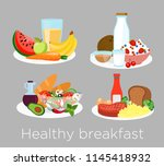 vector illustration set of... | Shutterstock .eps vector #1145418932