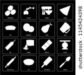 set of 16 icons such as spoon ...