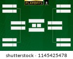 tournament bracket for 8 team... | Shutterstock .eps vector #1145425478