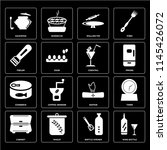 set of 16 icons such as wine... | Shutterstock .eps vector #1145426072