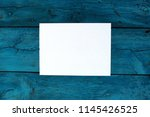 closeup top view mock up white... | Shutterstock . vector #1145426525