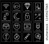 set of 16 icons such as broken...