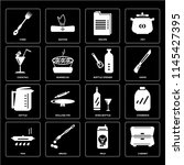 set of 16 icons such as cabinet ...