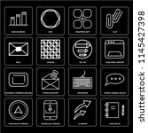 set of 16 icons such as note...