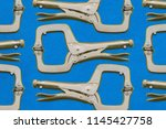 Shadow board for locking pliers C-clamp type with swivel pads