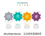 business mechanism infographic... | Shutterstock .eps vector #1145430845