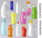 detergent bottle vector plastic ... | Shutterstock .eps vector #1145434952