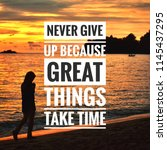 inspiring motivation quote with ... | Shutterstock . vector #1145437295