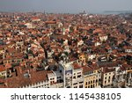an elevated view looking over... | Shutterstock . vector #1145438105