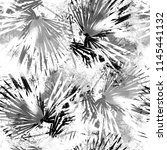 seamless pattern with fern... | Shutterstock . vector #1145441132