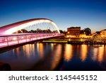 the bernatka bridge in krakow ... | Shutterstock . vector #1145445152