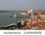 an elevated view over the... | Shutterstock . vector #1145445698