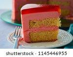 torta helada  a peruvian jello... | Shutterstock . vector #1145446955