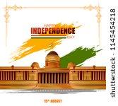 vector illustration of indian... | Shutterstock .eps vector #1145454218