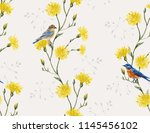 botanical floral meadow... | Shutterstock .eps vector #1145456102