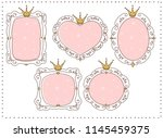 set of cute doodle mirrors.... | Shutterstock .eps vector #1145459375