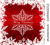 merry christmas greeting card.... | Shutterstock .eps vector #1145463212