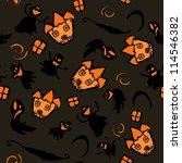 orange haunted house surrounded ...   Shutterstock .eps vector #114546382
