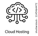 an html code appearing in cloud ... | Shutterstock .eps vector #1145464472
