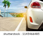 car on street blurred city... | Shutterstock . vector #1145466485