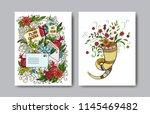 rosh hashanah   jewish new year ... | Shutterstock .eps vector #1145469482
