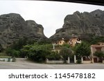 meteora  place with the... | Shutterstock . vector #1145478182