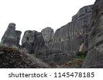meteora  place with the... | Shutterstock . vector #1145478185