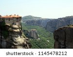 meteora  place with the... | Shutterstock . vector #1145478212