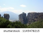 meteora  place with the... | Shutterstock . vector #1145478215