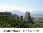 meteora  place with the... | Shutterstock . vector #1145478245
