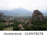 meteora  place with the... | Shutterstock . vector #1145478278
