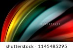 fluid colors abstract... | Shutterstock .eps vector #1145485295
