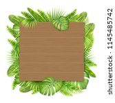 wooden sign with place for text ... | Shutterstock .eps vector #1145485742