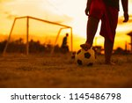 close up picture of an old ball ... | Shutterstock . vector #1145486798