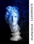 Gypsum Statue Of Apollo's Head...