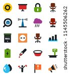 color and black flat icon set   ... | Shutterstock .eps vector #1145506262