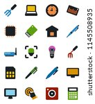 color and black flat icon set   ... | Shutterstock .eps vector #1145508935