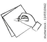 hand writing in notebook sheet | Shutterstock .eps vector #1145510462