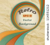Retro  Grunge  Background With...
