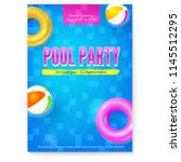 invitation on summer party in... | Shutterstock .eps vector #1145512295