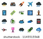 colored vector icon set   rain... | Shutterstock .eps vector #1145515568