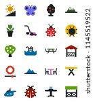 color and black flat icon set   ... | Shutterstock .eps vector #1145519522