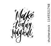 typography vector calligraphy... | Shutterstock .eps vector #1145521748