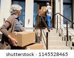 portrait of modern senior... | Shutterstock . vector #1145528465