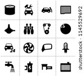 set of 16 spare filled icons... | Shutterstock .eps vector #1145529692