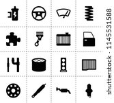 set of 16 part filled icons...   Shutterstock .eps vector #1145531588